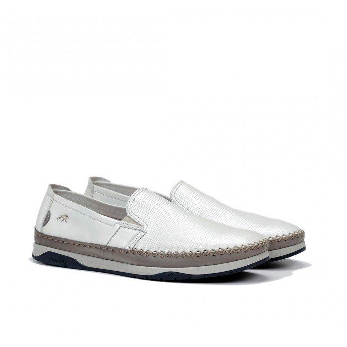 Zapatos Hombre Fluchos Kendal F0814 Blanco Hielo