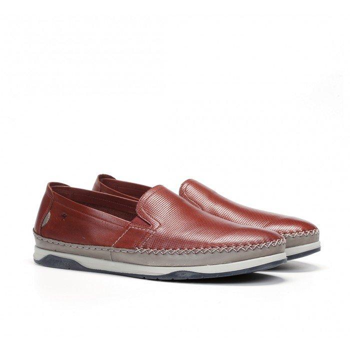 Zapatos Hombre Fluchos Kendal F0814 Rojo Terracota