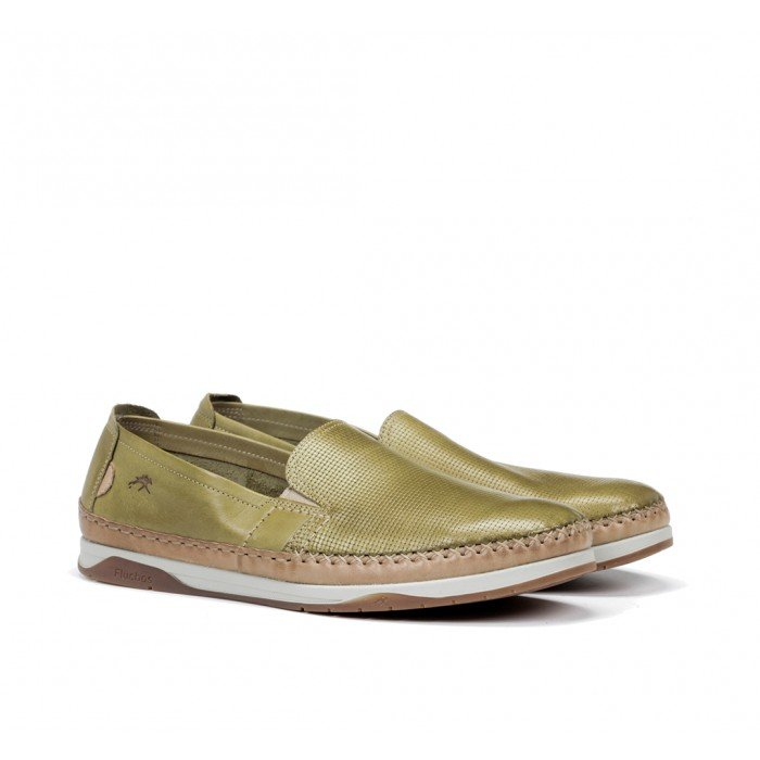 Zapatos Hombre Fluchos Kendal F0814 Verde Manzana