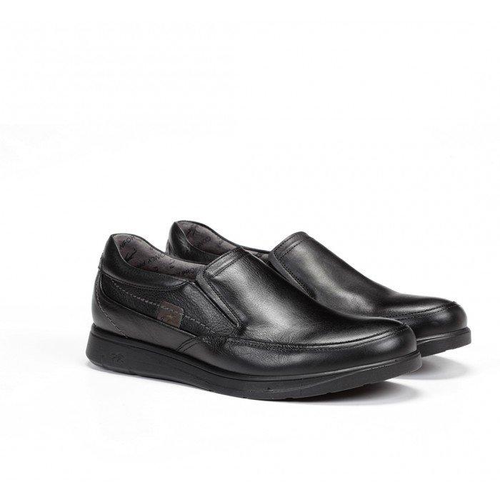 Zapatos Mocasines Hombre Fluchos New Profesional F0051 Mallorca Sanotán Negro