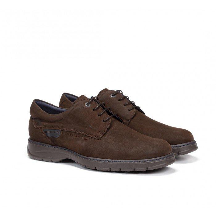 Zapatos Hombre Cordones Fluchos Crono 8855 Kansas Marrón Café