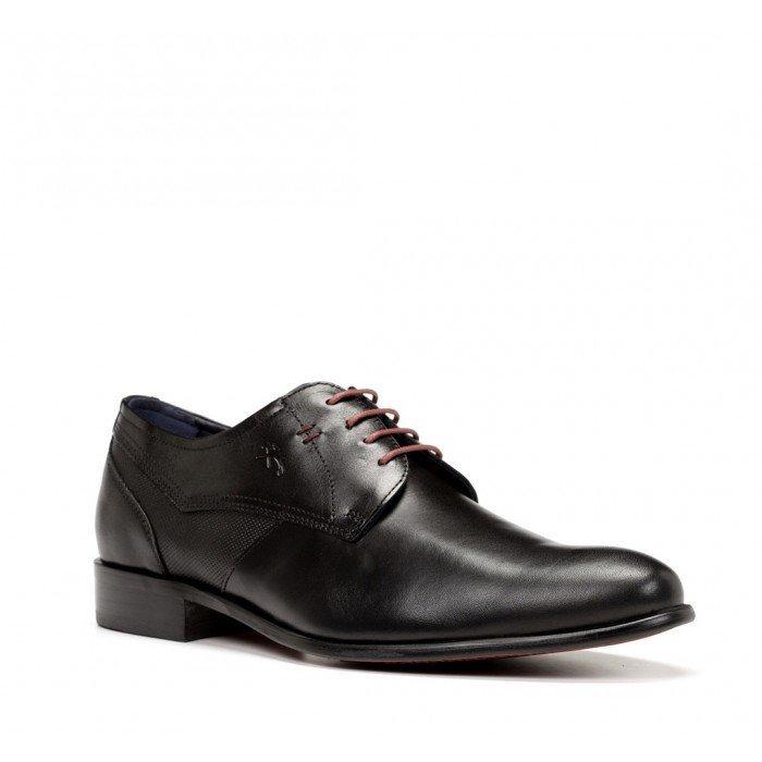 Zapatos Hombre Fluchos Apolo 9320 Memory Negro