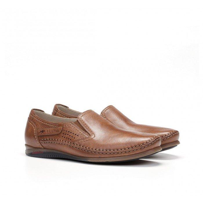 Zapatos Mocasines Hombre Fluchos Catamarán 8565 Cuero