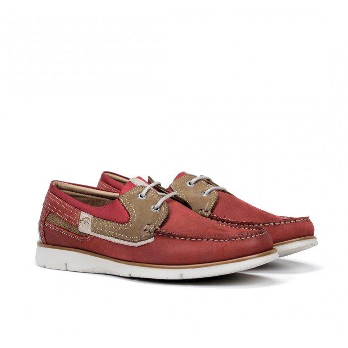 Zapatos Hombre Fluchos Giant 9763 Rojo Terracota