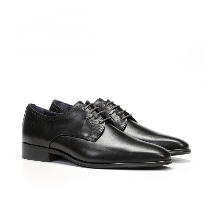 Zapatos Vestir Hombre Fluchos Cesar 9668 Negro