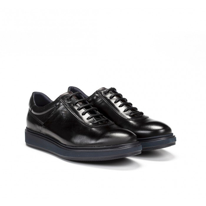 Zapatos Hombre Fluchos Nodo F0621 Negro