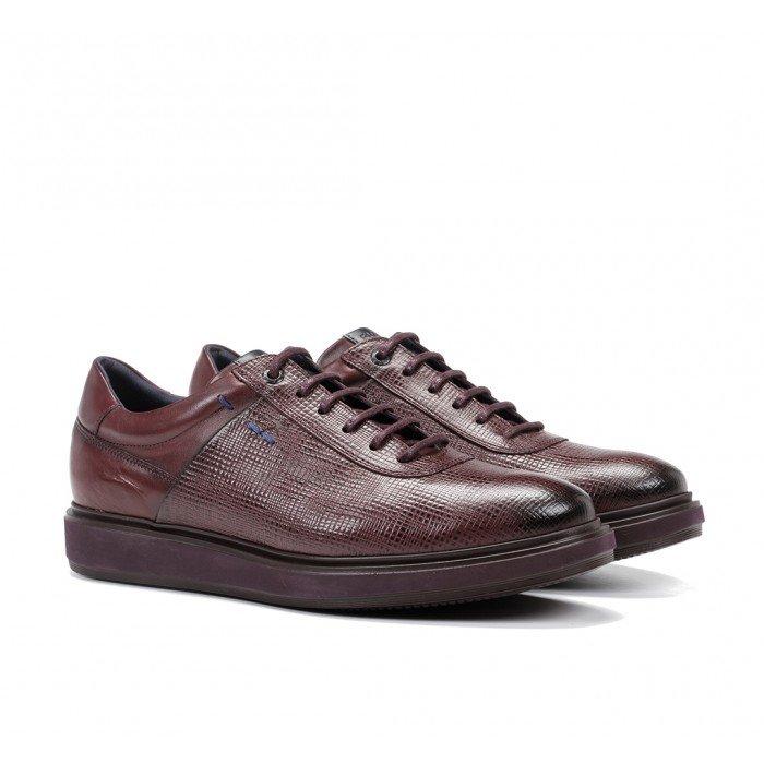 Zapatos Hombre Fluchos Nodo F0626 Burdeos