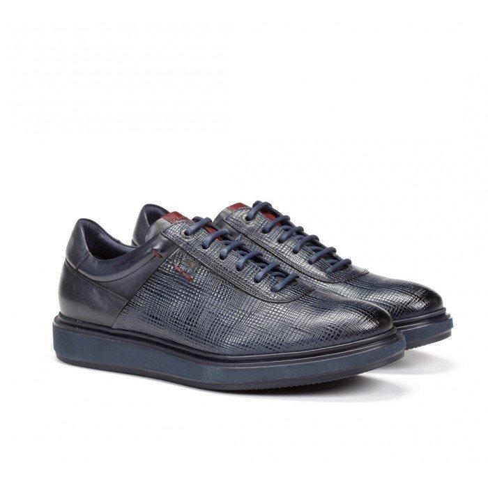 Zapatos Hombre Fluchos Nodo F0626 Azul Marino