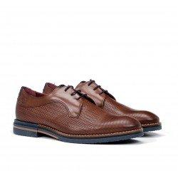 Zapatos Vestir Hombre Fluchos Clooney F0530 Marrón Líbano