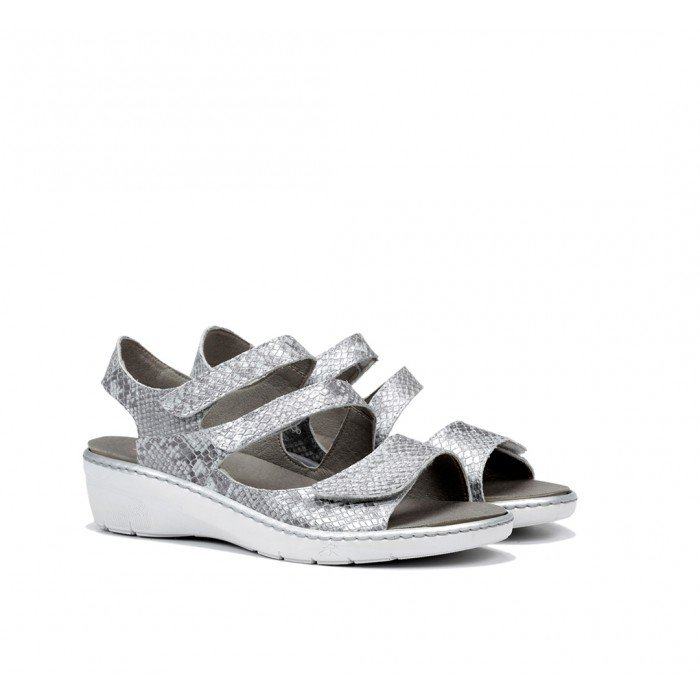 Sandalias Mujer Dorking Solly F0550 Plata Argento