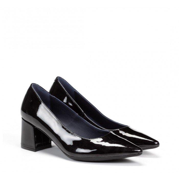Zapatos Salón Mujer Dorking D7720 Charol Gloss Negro