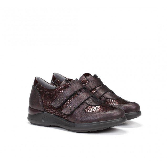Zapatillas Mujer Dorking Cloe F0711 Burdeos