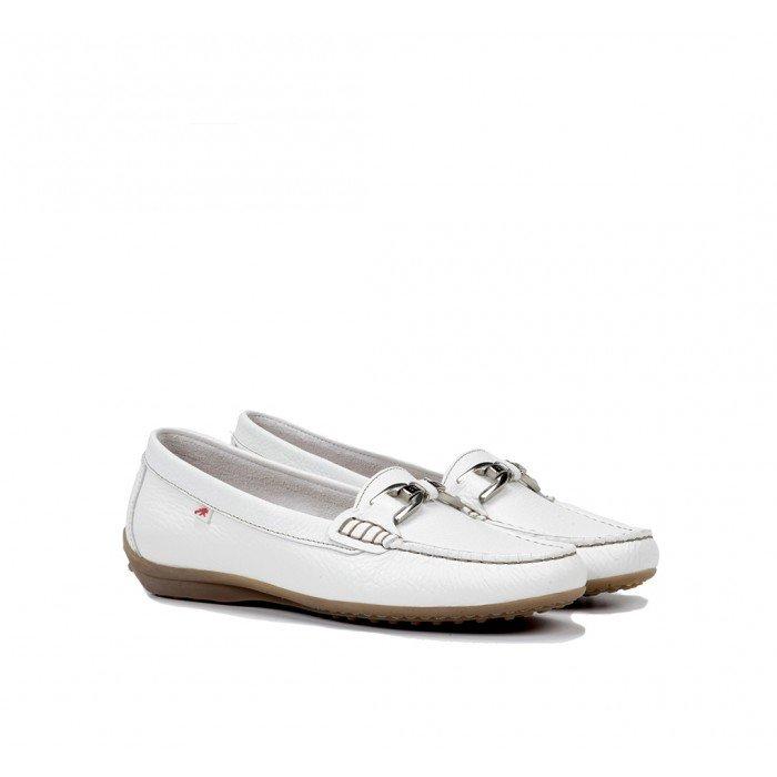 Zapatos Mocasines Mujer Fluchos Bruni F0804 Blanco