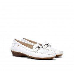 Zapatos Mocasines Mujer Dorking Aduna F0807 Blanco