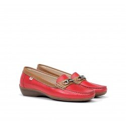 Zapatos Mocasines Mujer Dorking Aduna F0808 Rojo