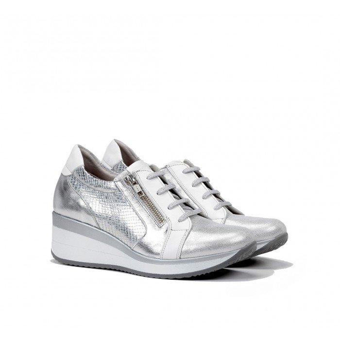 Zapatos Deportivos Mujer Dorking Plus F0722 Plata Argento