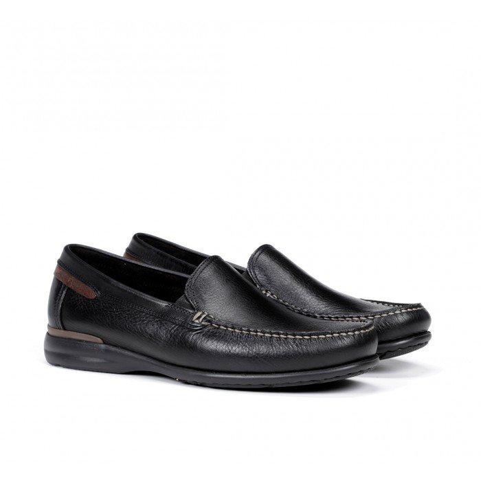 Zapatos Mocasines Hombre Fluchos Orion 8682 Negro