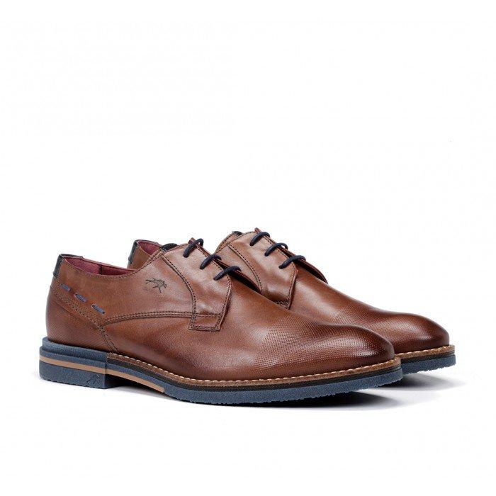 Zapatos Vestir Hombre Fluchos  Clooney F0532 Marrón Líbano