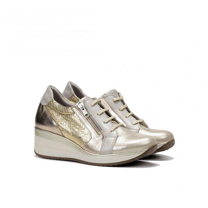 Zapatos Deportivos Cuña Mujer Fluchos Plus F0722 Oro Oxido