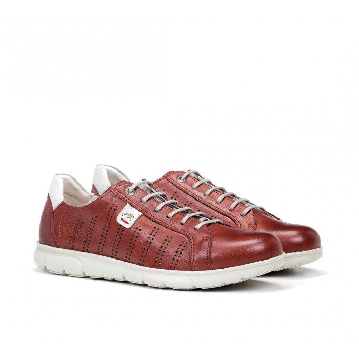 Zapatos Deportivos Hombre Fluchos Iron F0852 Rojo Terracota