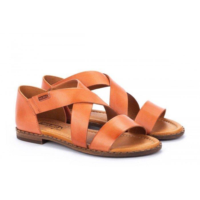 Sandalias Mujer Pikolinos Algar W0X-0552 Naranja Scarlet
