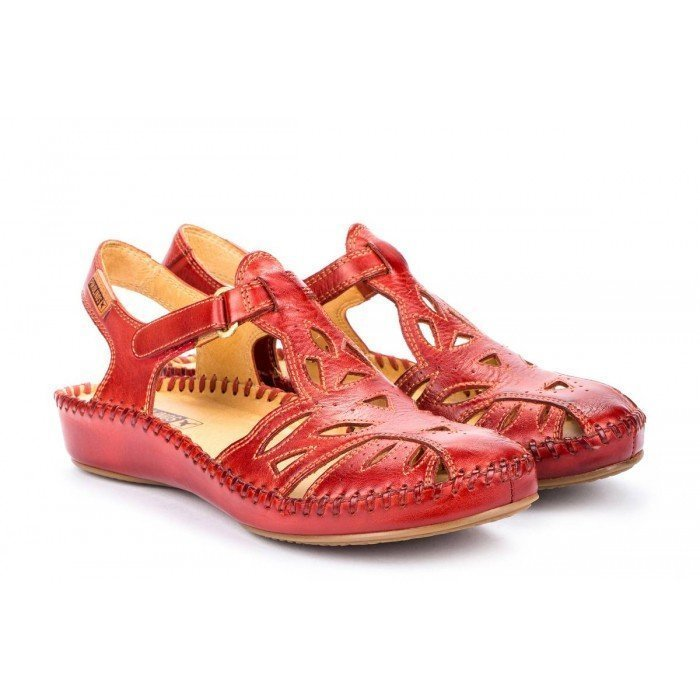 Sandalias Mujer Pikolinos P.Vallarta 655-8312 Rojo Coral