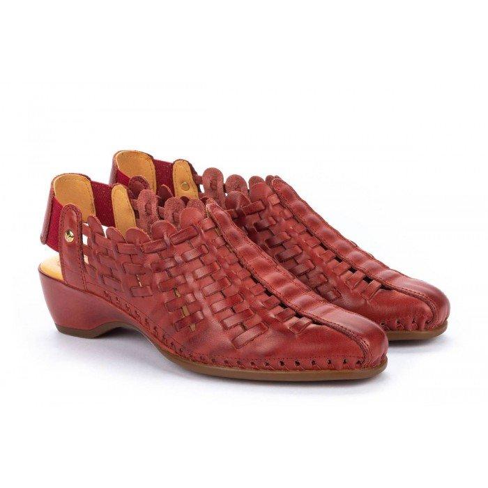 Sandalias Mujer Pikolinos Romana W96-1553 Rojo Sandía