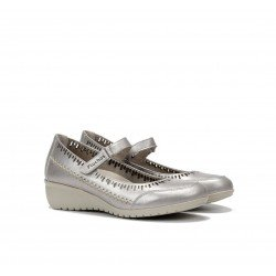 Zapatos Mujer Yoda F0502 Argento Plata