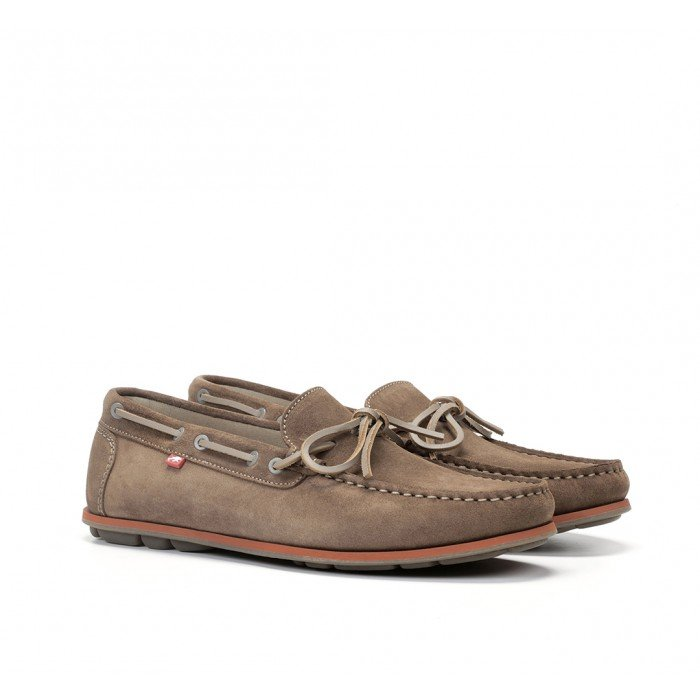 Zapatos Náuticos Hombre Fluchos Evoke F0425 Marrón Castaño