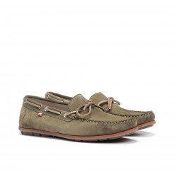 Zapatos Náuticos Hombre Fluchos Evoke F0425 Verde Kaki