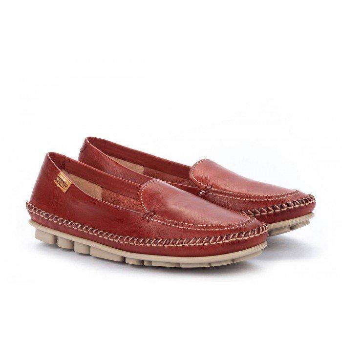 Zapatos Mocasines Mujer Pikolinos Riola W3Y-3825 Rojo Sandía