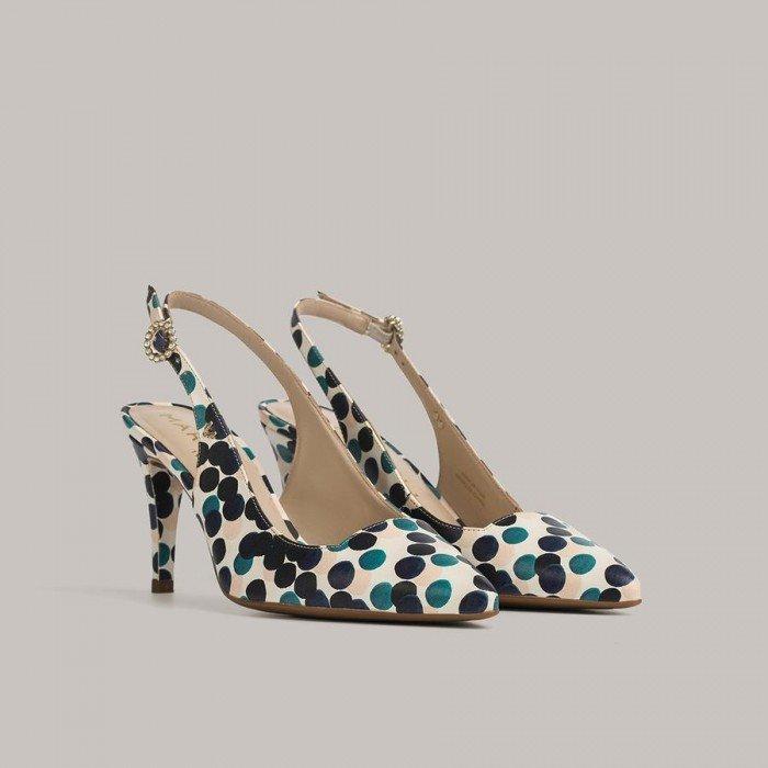 Zapatos Salón Mujer Martinelli Thelma 1489-6554U Beige/Azul