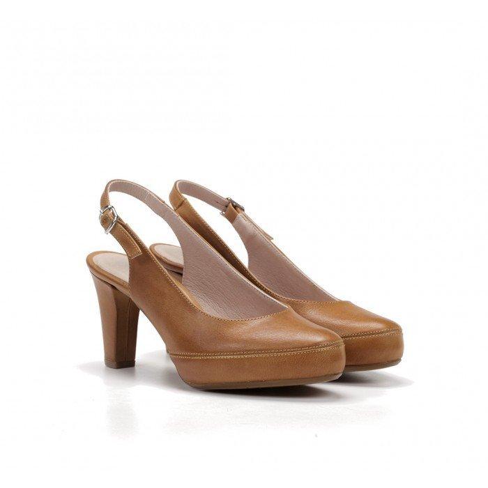 Zapatos Salón Mujer Dorking Blesa D5833 Cuero Camel