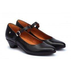 Zapatos Salón Mujer Pikolinos Blanca W9J-5965 Negro