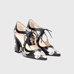 Zapatos Tacón Mujer Martinelli Danielle 1424-4537V Negro Estampado
