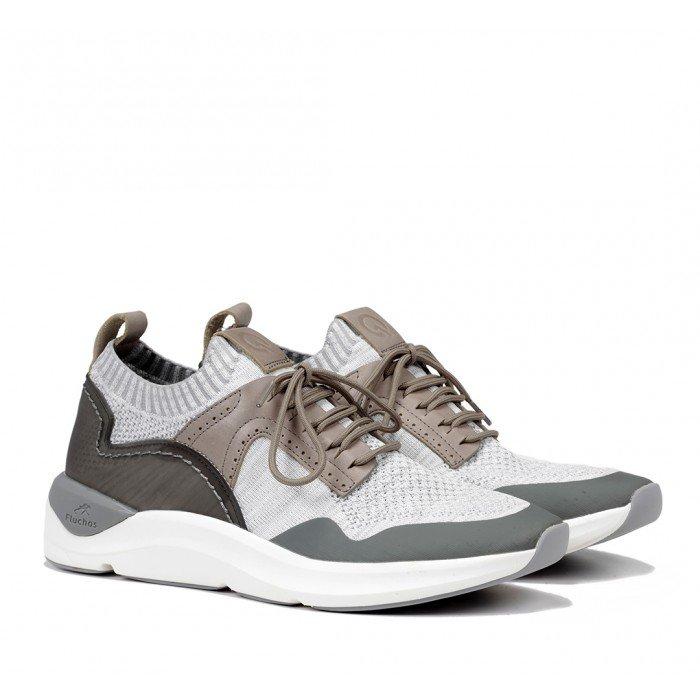 Zapatos Deportivos Hombre Fluchos Atom F0873 Gris