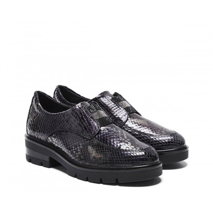 Mocasines Mujer 24 Hrs 24752 Gris Oscuro