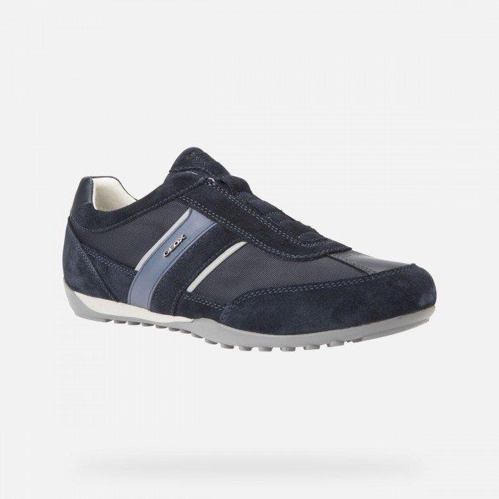 Zapatos Hombre Geox U Wells A Azul Elásticos