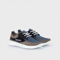 Zapatos Nauticos Hombre Martinelli Jay 1496-0968X Azul Bluejeans / Smoke