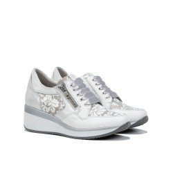 Zapatos Deportivos Cuña Mujer Fluchos Plus F1119 Blanco
