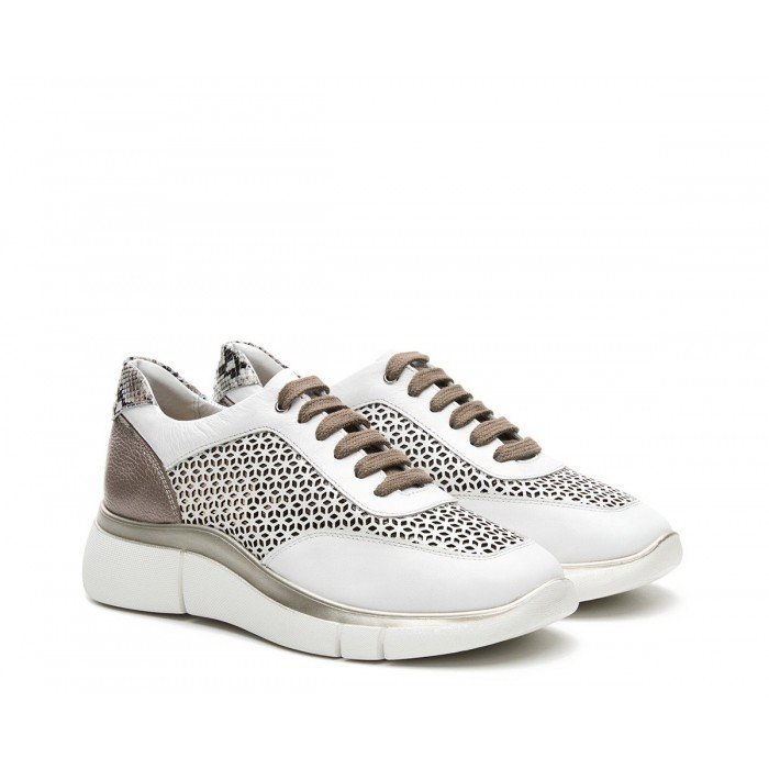 Sneaker 24 Hrs 24872 Blanco-Taupe