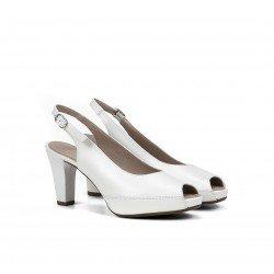 Zapatos Salón Mujer Dorking Blesa D6604 Blanco