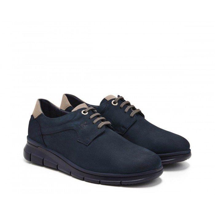 Zapatos Hombre 24 Hrs 11090 Nobuck Marino