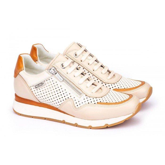 Zapatos Mujer Pikolinos Mundaka  W0J-6591C2 Blanco Marfil
