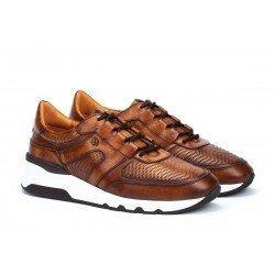 Zapatos Hombre Martinelli Newport 1513-2556L1 Cuero Tan