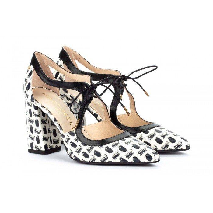 Zapatos Tacón Ancho Mujer Martinelli Bullock 1494-6288J Beige