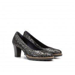 Zapatos Mujer Dorking Opium D7976 Gris Plomo