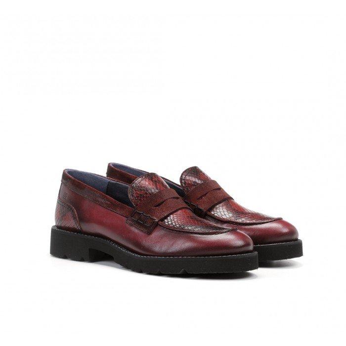 Zapatos Mujer Dorking Xinia D8380 Picota Burdeos