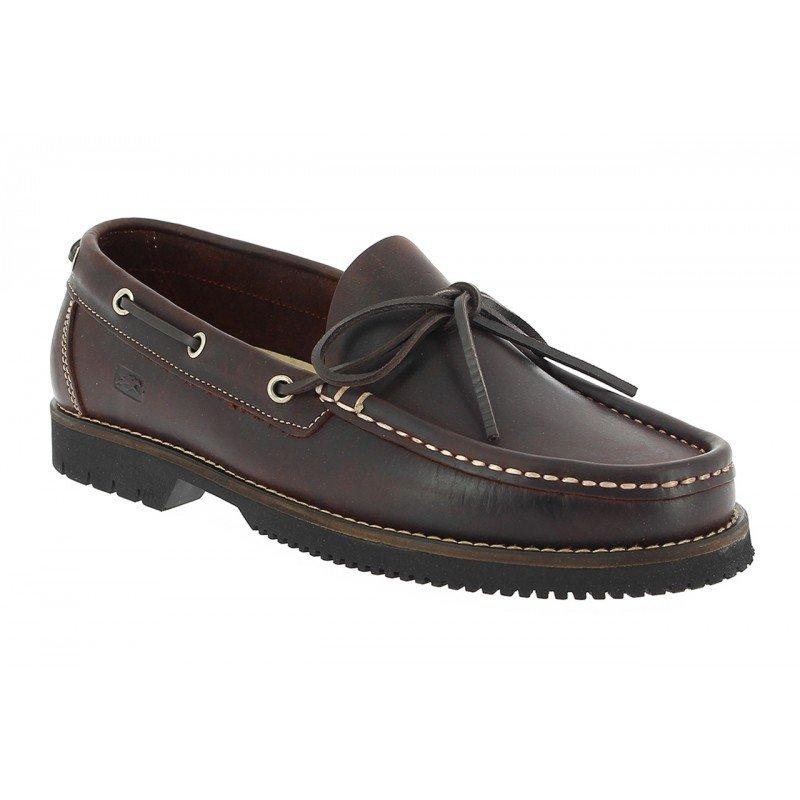 0698b9e97e0 Zapatos de hombre Fluchos tipo naútico de piel café línea Corzo.