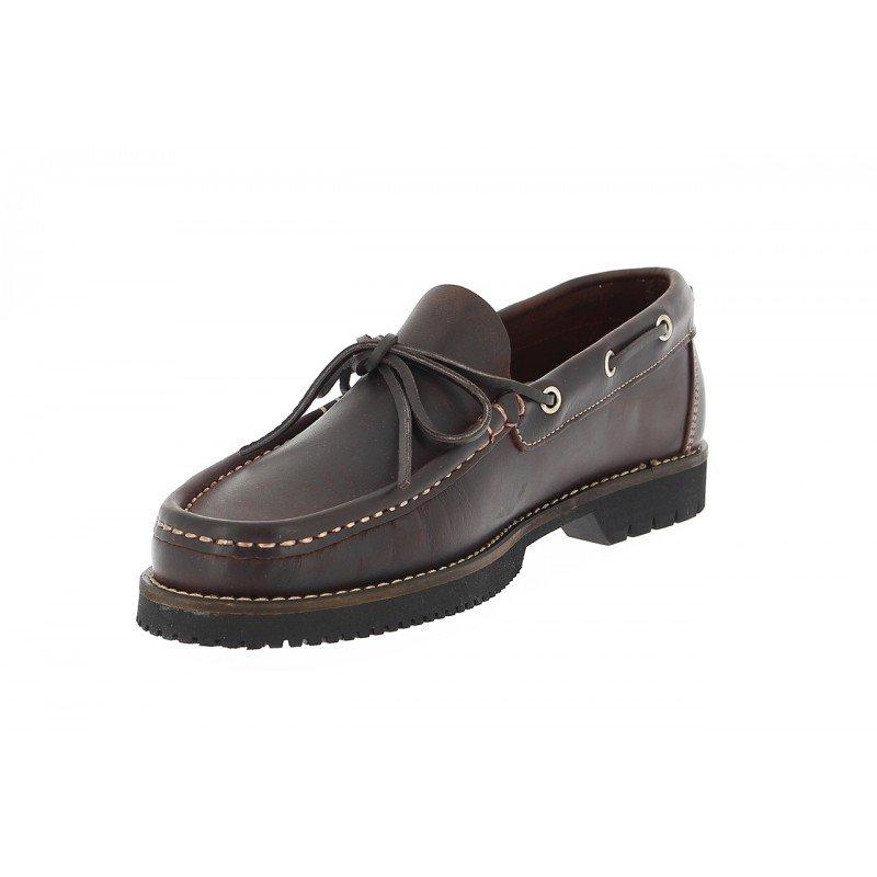 e81e0b8f Zapatos de hombre Fluchos tipo naútico de piel café línea Corzo.